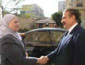 محافظ المنوفية يستقبل وزيرة التضامن الإجتماعى بمكتبه بالديوان العام