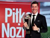ليفاندوفسكى يتوج بجائزة أفضل لاعب بولندى للمرة الثامنة فى تاريخه