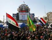 سكاى نيوز: قوة بزى مدنى تقتحم ساحى الخلانى وسط بغداد وتحرق الخيام