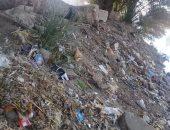 شكوى من تراكم تلال القمامة على جانبى ترعة قرية أولاد عليو بمحافظة سوهاج