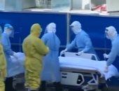 شاهد.. أول دفعة من المصابين بفيروس كورونا فى مستشفى هوشنشان بالصين