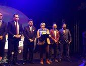 تسليم جائزة الأفضل من رابطة النقاد الرياضيين للزميلين محمد عراقي وياسمين يحيى