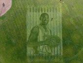 """زوجان يستخدمان تقنية """"الرسم على العشب"""" لتخليد ذكرى كوبى براينت"""