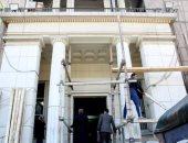 بدء أعمال تطوير واجهة مبنى نقابة المحامين في شارع رمسيس
