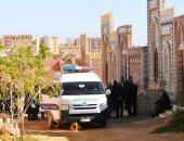 فيديو وصور.. جثمان نادية لطفى فى طريقه إلى مثواه الأخير