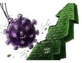 كاريكاتير صحيفة سعودية.. كورونا سبب فى ضعف الإقتصاد الصينى