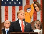 """نجل ترامب يسخر من بيلوسى وخصوم والده بصورة رأس مقطوعة وكارتون """"سكوبى دوو"""""""