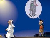 كاريكاتير صحيفة سعودية.. تراجع أعداد سياح منطقة الخليج فى تركيا