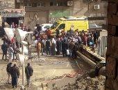 صور.. مصرع سائق تاكسى بعد سقوط رافعة عليه بمنطقة الأميرية