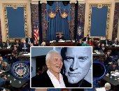 """صور.. العالم هذا الصباح.. الكونجرس يُبرئ الرئيس ترامب من الاتهامات المنسوبة إليه.. وفاة """"كيرك"""" والد الممثل الأمريكى مايكل دوجلاس عن عمر 103 أعوام.. ضبط حبوب مخدرة على شكل """"وجه ترامب"""" فى تشيلى"""