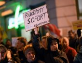 مظاهرات فى برلين ضد انتخاب كمريش رئيسا لوزراء ولاية تورينجن