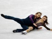 """""""الرقص على الجليد"""" فى بطولة القارات الأربع لاتحاد التزلج الدولى  2020"""