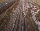 """حادث قطار ميلانو """"فائق السرعة """" فى إيطاليا"""