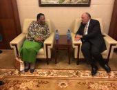 سامح شكرى يلتقى وزيرة خارجية جنوب إفريقيا للتشاور حول العلاقات الثنائية