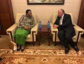 شكرى يبحث مع وزيرة خارجية جنوب أفريقيا التنسيق بشأن قضايا الاتحاد الأفريقى