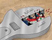 """كاريكاتير صحيفة إماراتية.. حل الأزمة اللبنانية بالقضاء على""""الطائفية والفساد"""""""