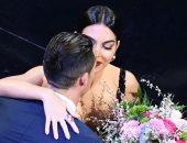 """""""تبدلت الأدوار"""".. كريستيانو مشجعا لصديقته جورجينا فى مهرجان للرقص الإيطالى"""