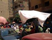 قارئة تستغيث بالمسؤولين لإزالة سوق الجمعة بميدان النعام بعين شمس