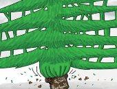 كاريكاتير صحيفة إماراتية.. رمى النخبة اللبنانية السياسية بالطوب