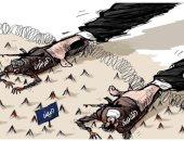 كاريكاتير صحيفة سعودية.. إيران دمرت اليمن بدعم تنظيم القاعدة والحوثيين