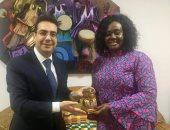 سفير مصر بأكرا يبحث مع وزيرة الثقافة الغانية سبل تعزيز التعاون بين البلدين