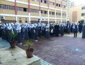 فيديو وصور.. انتظام الدراسة فى 225 مدرسة فى كفر الشيخ