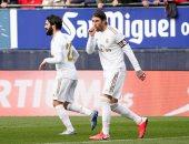 ريال مدريد يتقدم على أوساسونا 2-1 فى شوط مثير بالدوري الإسباني.. فيديو