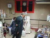جولة مفاجئة لمدير عام التأمين الصحى ببنى سويف لوحدة الكلى بالمستشفى.. صور