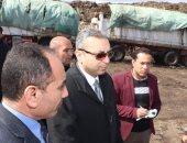 نائب محافظ الغربية ووفد الإنتاج الحربى فى زيارة لمصنعى تدوير القمامة بالمحلة
