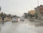 سقوط أمطار خفيفة ومتقطعة على بني سويف