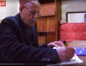 """يوم فى حياة """"الحج منصور"""" أكبر طالب إعدادى بمصر 77 عاما"""