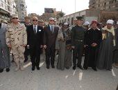فيديو وصور.. محافظ بنى سويف ومدير الأمن يتقدمان جنازة الشهيد ربيع فتحى