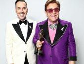 بيكهام يهنئ إلتون جون لفوزه بجائزة الأوسكار عن أفضل أغنية أصلية