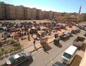 سوق عشوائى.. شكوى أهالى الإسكان الاجتماعى بدهشور حدائق أكتوبر