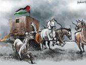 كاريكاتير صحيفة أردنية يسلط الضوء على القضية الفلسطينية