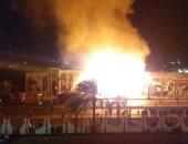 السيطرة على حريق ضخم فى مطعم وكافيه وقاعة أفراح فى الإسماعيلية