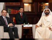 محمد بن راشد يستقبل رئيس جهاز الأمن الروسى الخارجي