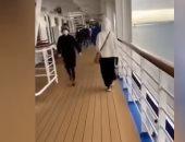 """فيديو من على متن سفينة """"أميرة الماس"""" اليابانية الموبوءة بفيروس كورونا"""