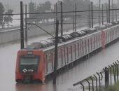 شاهد.. الفيضانات تغرق قطارا بمدنية ساو باولو البرازيلية