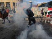 اشتباكات بين الأمن ومتظاهرين بمحيط البرلمان اللبنانى ووقوع إصابات