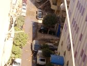 تراكم للمياه بشارع أبى ربيعة من الهرم.. والأهالى يناشدون بحل المشكلة لوجود مدرسة