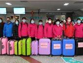 صور.. فرق طبية داعمة من مختلف الأماكن فى الصين لمكافحة كورونا فى هوبى