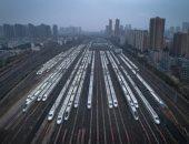 توقف لحركة القطارات فى مقاطعة هوبى الصينية لحصار كورونا.. صور