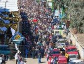 الآلاف يؤدون صلاة الجنازة على الشهيد مصطفى عبيدو بقريته بمنشأة القناطر بالجيزة