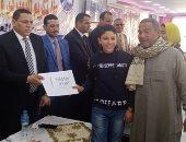 صور.. تكريم 75 طالبا وطالبة من المتفوقين بمحافظة بنى سويف