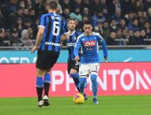 الانتر ضد نابولى.. شوط أول سلبى فى نصف نهائي كأس إيطاليا