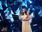 أنغام تطرب جمهور الأوبرا فى حفل عيد الحب