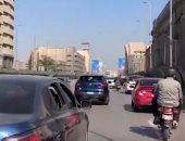تكدس مرورى بكوبرى أكتوبر المتجه من مدينة نصر للمهندسين.. فيديو