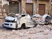 انهيار عقار قديم وسط الإسكندرية دون وقوع إصابات