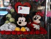 هدايا عيد الحب 2020.. توم وجيرى وميكى ماوس ودبدوب مصنوع من الورد